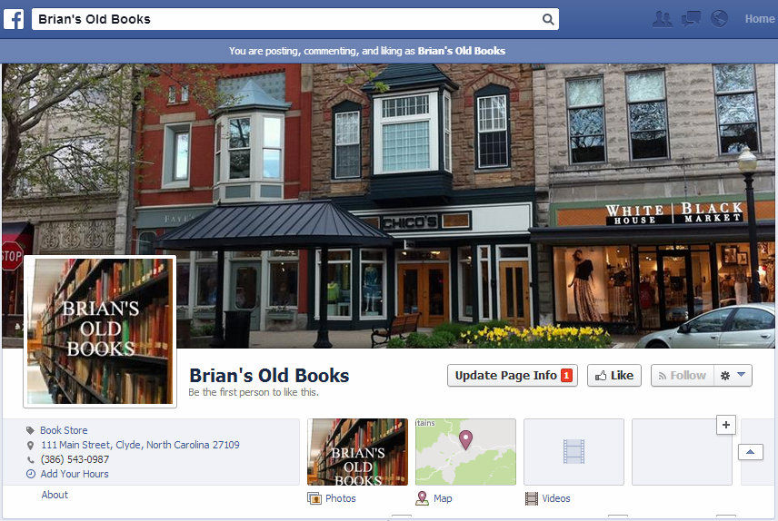 Small Business Facebook Page Example